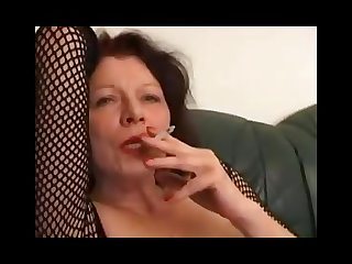 Mature mother smoking tease