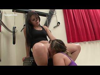 Lesbian domination on slave girl
