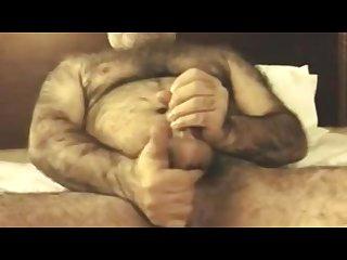 Hairy Bear masturbate
