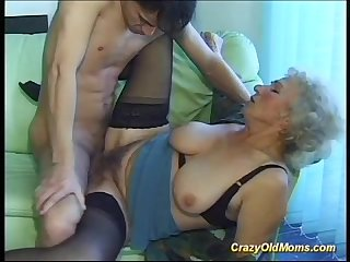 Busty old mom needs only fresh strong cocks