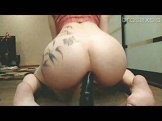 Teen anal dildo. My step sister anal training.