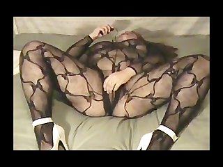Squirting in my crotchless body stocking