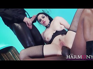 Harmonyvision lucia love interracial threesome rough ride