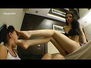 extreme deep feet swallow aggressive master gagging slave, brazil foot wors