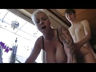 Big titte dgerman mature picks up a boy