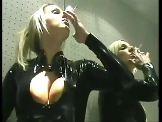 Danni smoking in latex