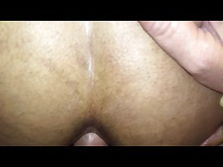 Anal creampie girl on period fucked creamed in the ass