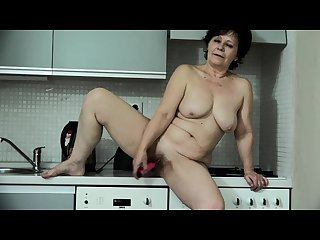 Old mature masturbates with toy and then with a young girl