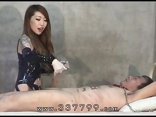 Cbt 02 asian mistress sounds her slave s urethral