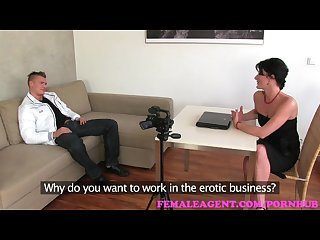 Femaleagent milf can t get enough of sexy strippers cock during casting