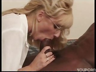 Blonde girl auditions for him in his room