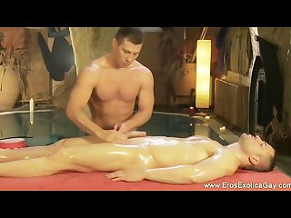 Intimate male genital massage