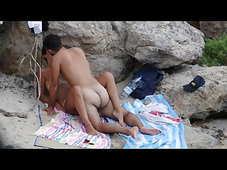 Young couple gets caught fucking on the beach part 3 missionary position