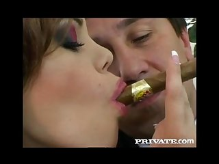 Gia paloma cigar smoking double dicking