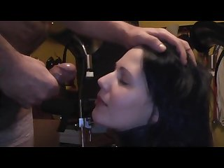 Piss drinking cute brunette