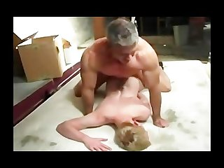 Grey dad fucks bare young ass