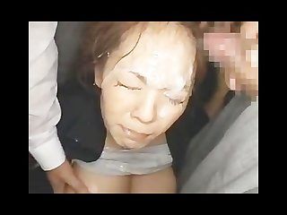 Big tit Hitomi bukkaked on bus