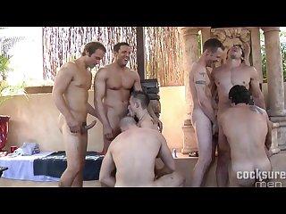 Bareback muscle Twink orgy
