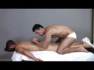 Muscle stud massaged to a happy ending