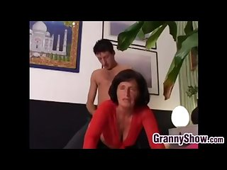 Italian granny lory gets pounded by a young guy