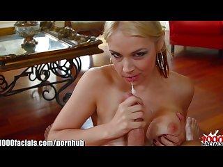 1000facials blonde pornstar sarah vandella is jizzed