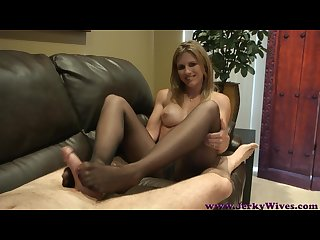 Cc jw mom s pantyhose footjob and handjob