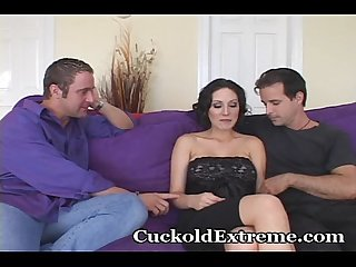 Cuckold wife shows hubby how it s done