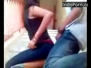 Girl fucked on steps from behind indo sex