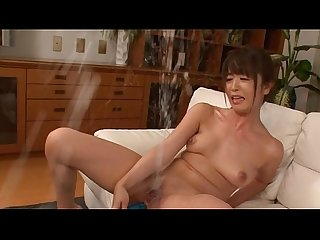 Asian anal dildo masturbation and incredible squirt