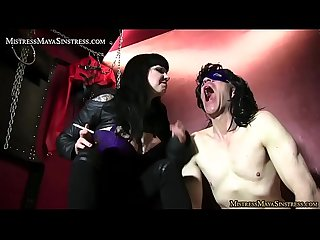 Mistress Maya Sinstress in nasty Femdom action