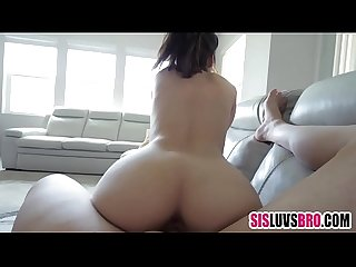 Step sis gets impregated after accidental fall on brother's dick