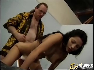 Lovely babe honey ass fucked passionately before jizz shower