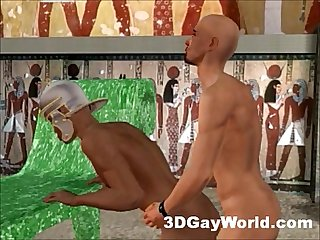 Bisexual pharaoh fucks men and women 3d gay cartoon anime