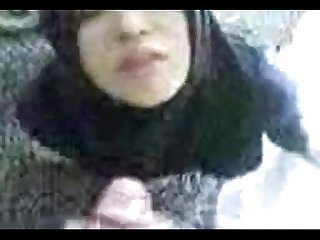 Arabic hijab blowjob cum swallow outdoor