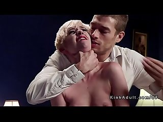 Bf disciplines blonde and fucks her mom