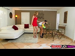 Slutty ladies kharlie and Desi plays 2 sided long dildo