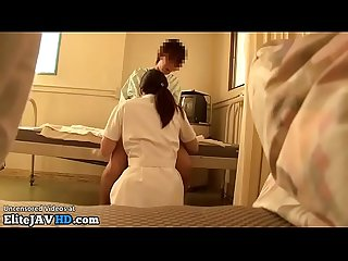 Japanese nurse provokes and fucks patient more at elitejavhd com