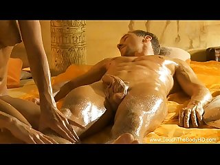 Sensual massage play for lucky dude