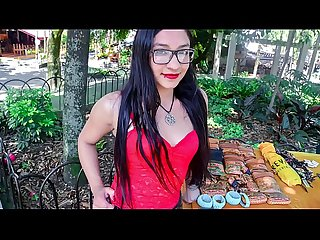 CARNE DEL MERCADO - Juicy Colombian teen babe with glasses gets banged