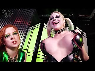 Haley Quinn & Poison Ivy Fuck Batman -Leya Falcon & Lady Fyre