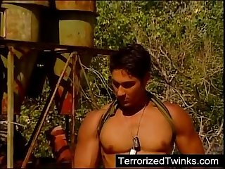 Armee Twinks mit brutalen homosexuell sex