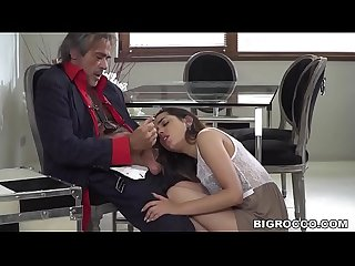 Interracial anal sex in front of the old professor - Esperanza del Horno