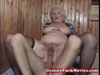 A horny granny fuckbitch