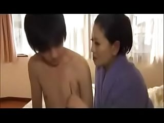 Erotic Japanese step Mom with young son