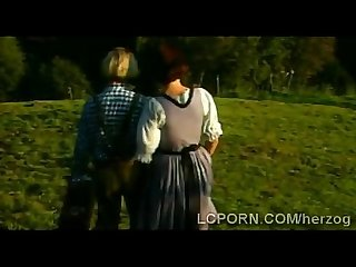 Busty german farm lady pleases foreign hunk in vintage scenet 1