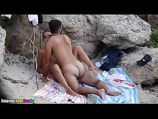 Amateur couple having quick sex on the beach amateurteensex period in