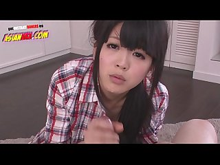 Riisa minami sucking 2 fat cumming dicks