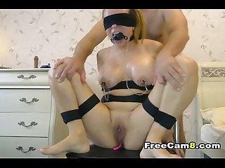 Bondage busty wife pussy punishment