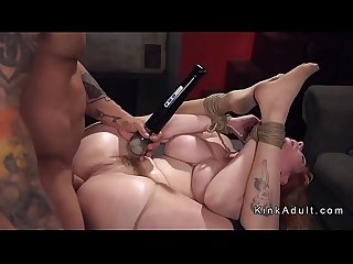 Huge tits slave rough anal fucked in bdsm