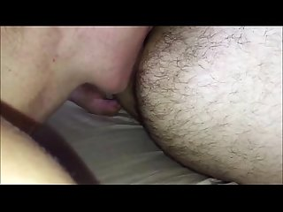 Licking his ass and cock